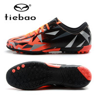 TIEBAO Boys Football Shoes Girls Sneakers Soccer Shoes TF Turf Boots Zapatos De Futbol For Kids Children School Football Game