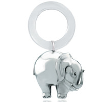 Sterling Silver Teething Ring,  Elephant, Children's Toys
