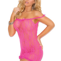 Stretch lace Off the Shoulder Chemise