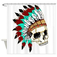 Indian Chief Skull Shower Curtain> Indian Chief Skull> JnC Creations
