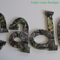 Mossy Oak Obsession Camo Wall Letters
