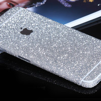 Silver Sparkle Glitter Decal Wrap Skin Set iPhone 6s 6 / iPhone 6s 6 Plus