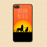 Iphone case Hakuna Matata Iphone case lion king Iphone 4 case Iphone 5 case cool awesome Iphone 4s case