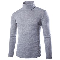 turtle neck knitted slim fit Tops