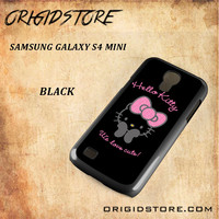 Hello Kitty Snap on 2D Black and White Or 3D Suitable With Image For Samsung Galaxy S4 Mini Case