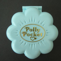 Vintage 1990 Polly Pocket Compact Midge's Flower Shop Bluebird Compact Toy NO Figures Clean
