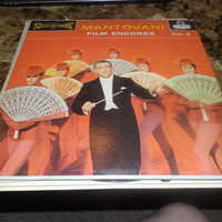 Vintage Vinyl Record Mantovani Film Encores, Vol. 2 Soundtrack Great Film Songs - The High And The Mighty - Que Sera, Sera