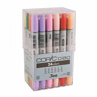 Too. Copic Marker Set - Ciao 24 Colors Pen Set - Japan Drawing Markers, Anime, Animation, Comic Manga Art Supplies - Non-Toxic, Entry Model