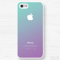 iPhone 5 4 Ombre Case - Gradient Fade  - Samsung Galaxy s3, s2, ipod touch - Purple Blue - 1C