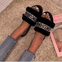 Women's plush slippers