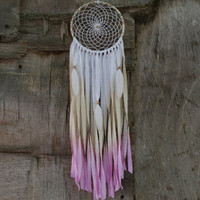 Dream catcher, Dreamcatcher, House decor, Bedroom decor, Natural, Mobile, Feathers, Beads, Bohemian, Boho, Wall hanging, Turquoise Stone