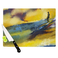 "Josh Serafin ""Sano"" Yellow Surf Cutting Board"
