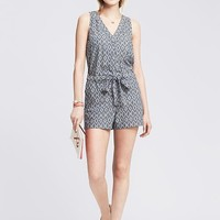 Banana Republic Womens Ikat Romper