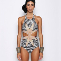 Sexy Womens One Piece Bikini Bandage Push-up Swimsuit Bathing Monokini Swimwear