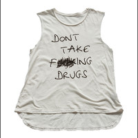No Drugs Muscle Tee - Skinny Bitch Apparel