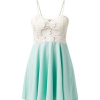 Cameo Rose Mint Green Sequin Buster Skater Dress