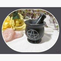 Black Pentagram Soapstone M & P Set