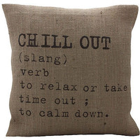 'chill out' cushion cover by betsy jarvis   notonthehighstreet.com