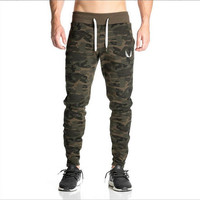 2016 NEW AS Gyms pants Men's gasp workout bodybuilding clothing casual camouflage sweatpants joggers pants skinny trousers