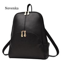 Leather Backpacks Softback Bags Preppy Style