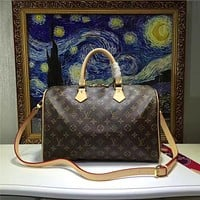 LV Louis Vuitton MONOGRAM CANVAS SPEEDY HANDBAG SHOULDER BAG