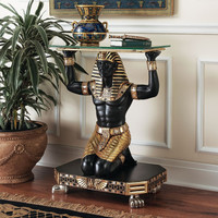Servant to the Pharaoh Glass-Topped Console Table - Furniture - All Sale - Sale - Design Toscano