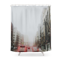 Society6 Detroit's Gone Missing Shower Curtain