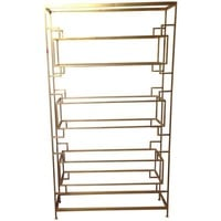 Pre-owned Worlds Away Lamar Gold Leaf Etagere