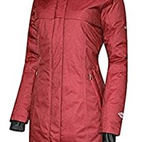 COLUMBIA Women's Flurry Run Down Long Omni Heat Jacket Coat Hooded Parka