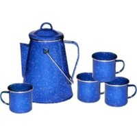 Stansport Enamel 8-Cup Coffee Percolator and Four 12 oz. Mugs| DICK'S Sporting Goods