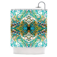 "Nikposium ""Summer Breeze"" Blue Teal Shower Curtain"