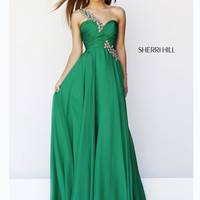 Single Shoulder Strap Sherri Hill Formal Prom Dress 11073