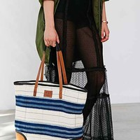 Will Leather Goods Kente Tote Bag- Black Multi One