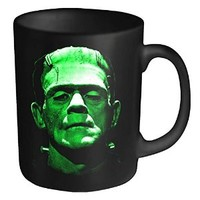 Plan 9 Mug Frankenstein Green Head Shot Official New Black Boxed
