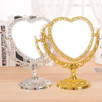 Double Sided Heart Stylish Silver Mirror [9568262922]