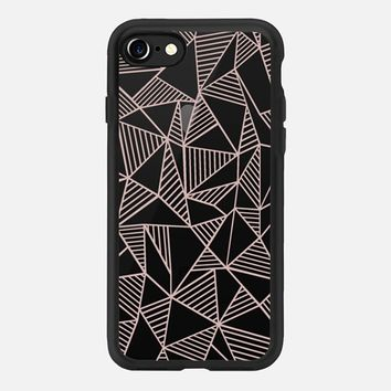 Abstract Lines Rose Gold Transparent iPhone 7 Case by Project M | Casetify