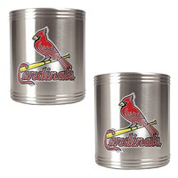 St. Louis Cardinals 2-pc. Stainless Steel Can Holder Set (Silver)