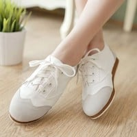 New Korean Women's Fashion Lace Comfortable Flat Casual Shoes Sports Shoes C503