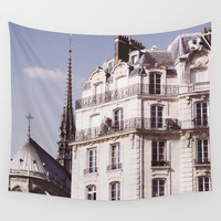 Notre Dame Hiding Wall Tapestry by Pati Designs