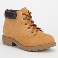 Soda Tanic Girls Boots Chestnut  In Sizes