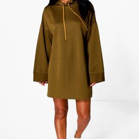 Beth Wide Sleeve Relaxed Fit Sweat Dress | Boohoo