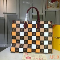 HCXX 19Aug 572 Louis Vuitton LV M44571 Tote Onthego Soft Clutch Grid Large Shopper 41-34-19cm