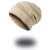Knitted Winter Hat For Men Skullies Beanies Women Thick Warm Cap with Holes Unisex Beanie Hats Drop Shipping