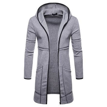 Brand Hoodie Sweatshirt Men Hip Hop Hoodies Mens Fashion Solid Trench Cardigan Long Sleeve Outwear Blouse Tracksuit Sweatshirts