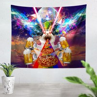 Crazy Cat Tapestry