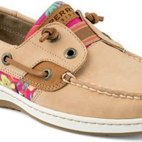 Sperry Top-Sider Rainbowfish Slip-On Boat Shoe Linen/FlamingoFloral, Size 6M  Women's Shoes
