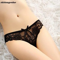 9 color Women's clothing accessories Lady Sexy Lace V-string Briefs Panties Thongs G-string Lingerie Underwear intimate