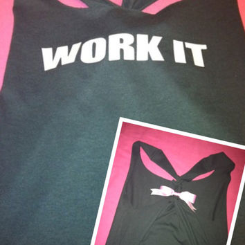 WORK IT Racerback Work-out Tank Top