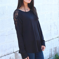 Thermal Laced Back Top {Black}