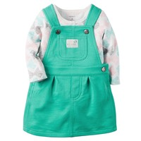 Carter's Bow Bodysuit & French Terry Jumper Set - Baby Girl, Size: